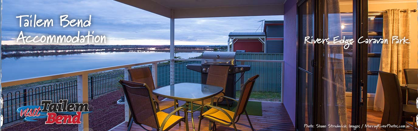 Visit Tailem Bend Accommodation Banner - Shane Strudwick Images - Murray River Photos